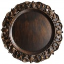 """Jay Companies 1320397 Aristocrat Brown Embossed 14"""" Charger Plate"""