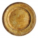 "Jay Import 1320375 ChargeIt! by Jay Beaded Antique Gold 14"" Charger Plate"