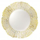 """Jay Import 1470334 ChargeIt! by Jay Deniz Gold Flower Shape 12.5"""" Charger Plate"""