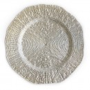 """Jay Import 1470337 ChargeIt! by Jay Infinity 13"""" Silver Charger Plate"""
