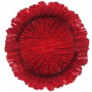 "Jay Companies 1470110-RD Reef Red 13"" Charger Plate"