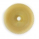 """Jay Import 1470324 ChargeIt! by Jay Round Edge Gold Glass 13"""" Charger Plate"""