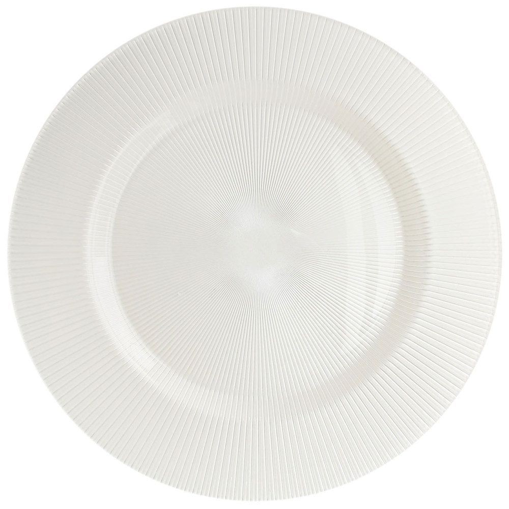 ChargeIt! by Jay Sunray Pearl White Charger Plate 13