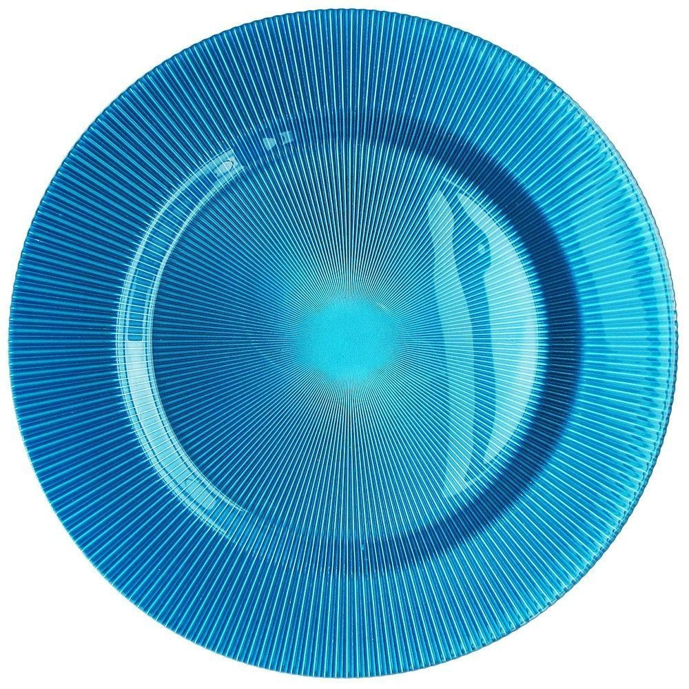 """Jay Import 1470343 ChargeIt! by Jay Sunray Turquoise 13"""" Charger Plate"""