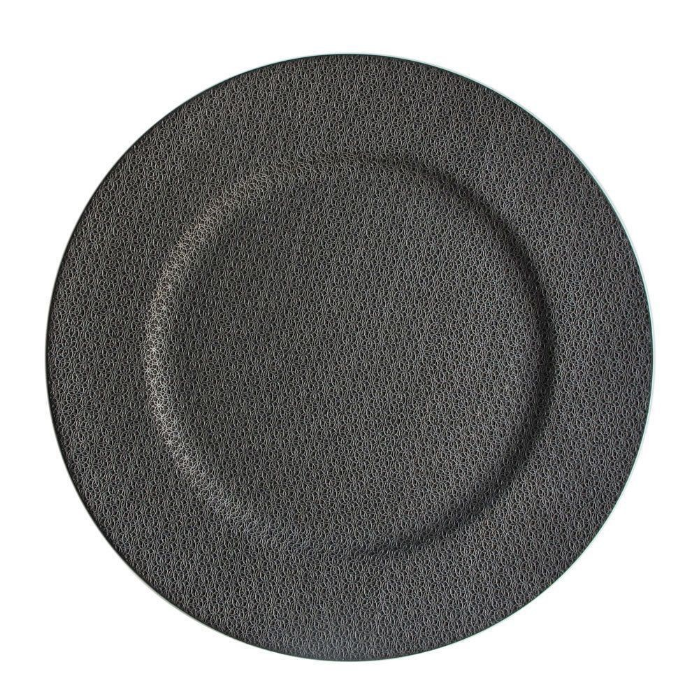"""Jay Companies 1320382 Textured Ash Gray 13"""" Charger Plate"""