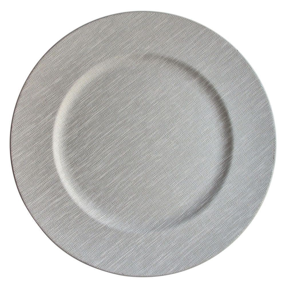 "Jay Companies 1320381 Woven Cool Gray 13"" Charger Plate"