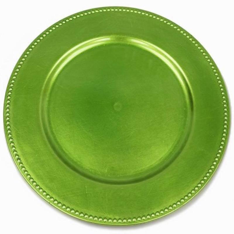 "Ya Ya Creations CHRG_1302_LIME Lime Green 13"" Charger Plate, Box of 24"
