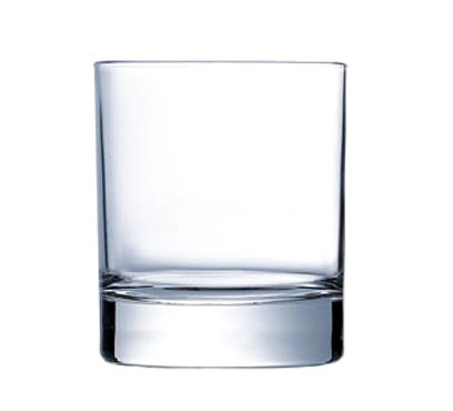 Old Fashioned Glass, 7 oz., glass, Arcoroc, Islande (H 3-1/4