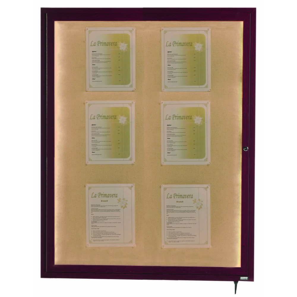 Cherry Indoor/Outdoor Menu 1-Door Display Case 48