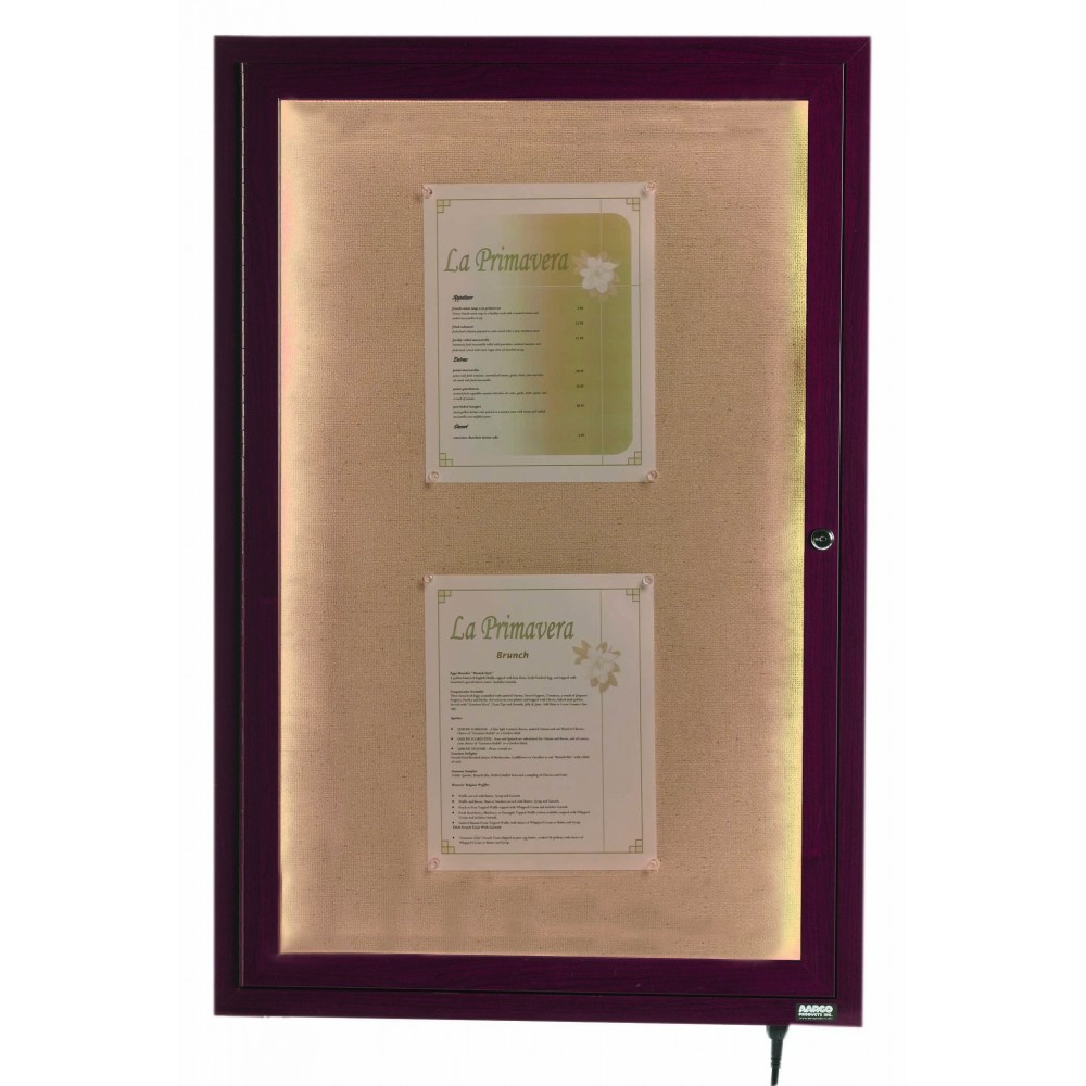 Cherry Indoor/Outdoor Menu Display Case 36