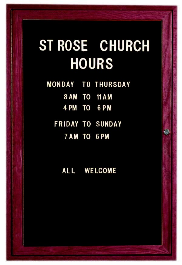 """Aarco Products CDC3624 1-Door Enclosed Changeable Letter Board, Cherry 36""""H x 24""""W"""