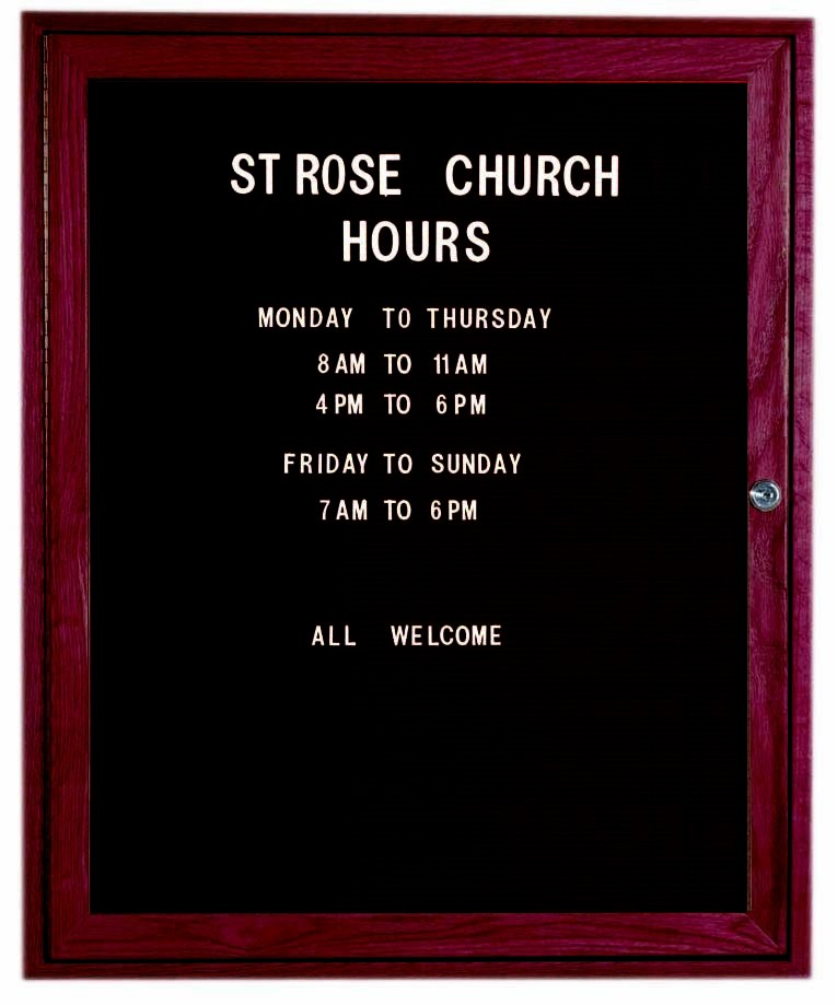 """Aarco Products CDC3630 1-Door Enclosed Changeable Letter Board, Cherry 36""""H x 30""""W"""