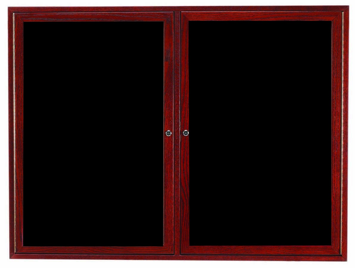 "Aarco Products CDC3648 2-Door Enclosed Changeable Letter Board, Cherry 36""H x 48""W"