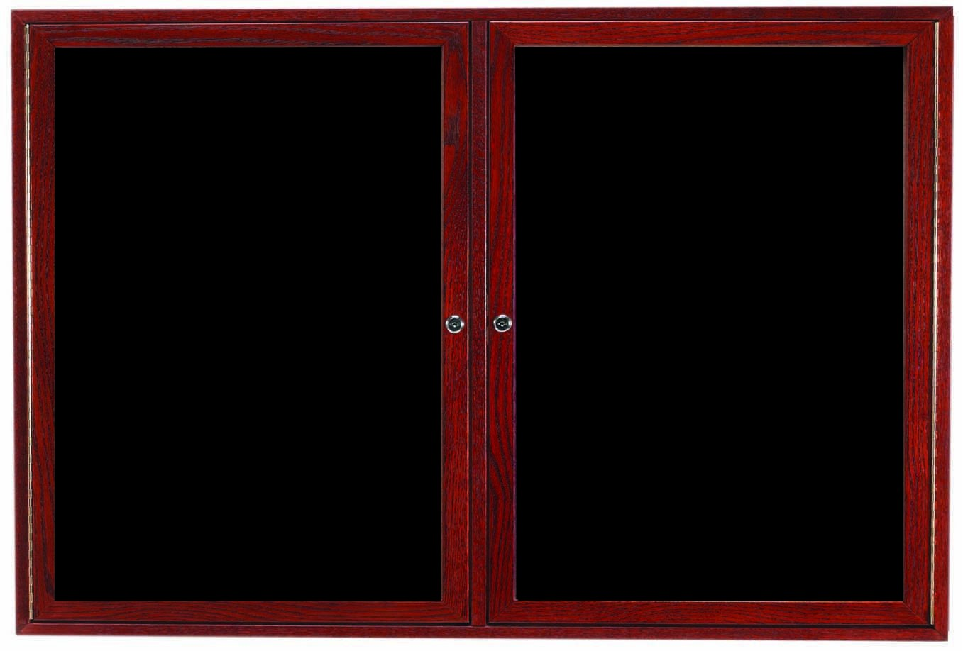 "Aarco Products CDC3660 2-Door Enclosed Changeable Letter Board, Cherry 36""H x 60""W"