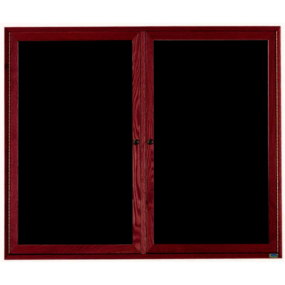 "Aarco Products CDC4860 2-Door Enclosed Changeable Letter Board, Cherry 48""H x 60""W"