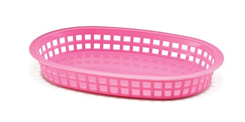 "Chicago Oval Plastic Basket, 10-1/2"" x 7"" x 1-1/2"""