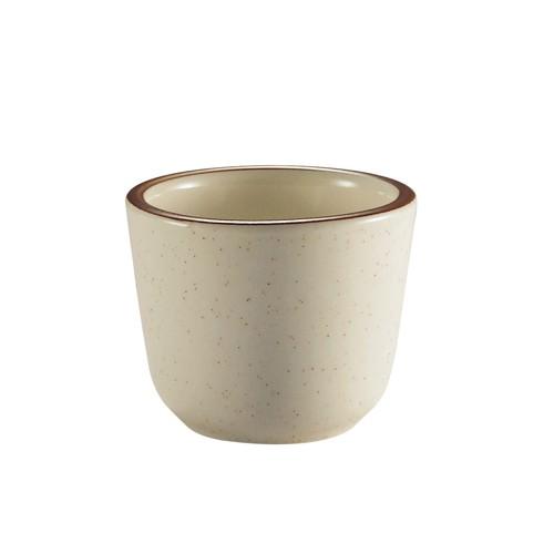 CAC China AZ-45 Arizona Narrow Rim Brown Speckled Chinese Tea Cup 4.5 oz..