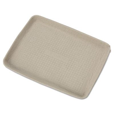 Chinet StrongHolder Molded Fiber Food Trays, 9 x 12 x 1, Beige, Rectangular, 250/Carton