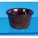 Thunder Group ML507C Chocolate Melamine1.5 oz. Fluted Ramekin 2-1/2""