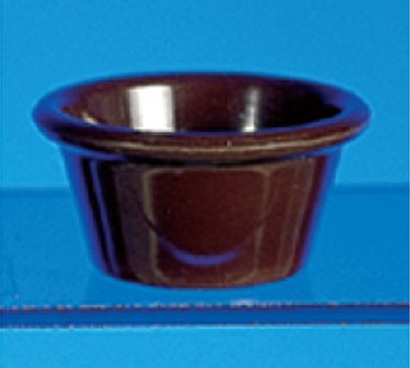 Chocolate Melamine 2-1/2 Oz. Smooth Ramekin - 2-7/8