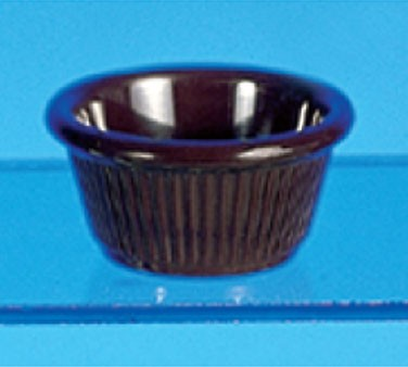 Thunder Group ML509C Chocolate Melamine 2 oz. Fluted Ramekin 2-7/8""