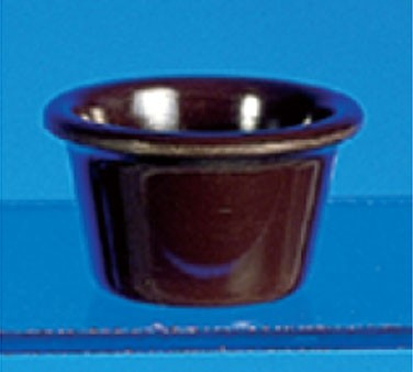 Thunder Group ML535C Chocolate Melamine 2 oz. Smooth Ramekin 2-1/2""