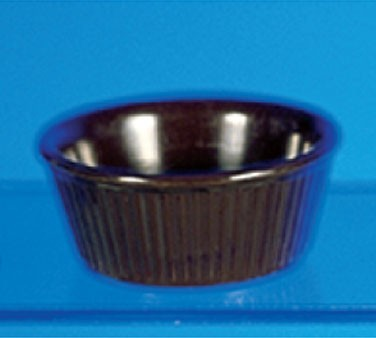 Thunder Group ML533C Chocolate Melamine 3-3/4 oz. Fluted Ramekin 3-3/8""