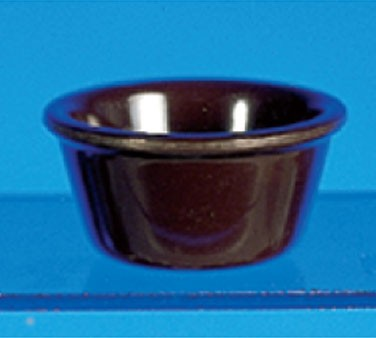 Chocolate Melamine 3 Oz. Smooth Ramekin - 3-1/8
