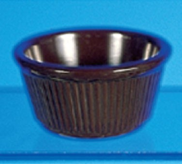 Thunder Group ML532C Chocolate Melamine 4 oz. Fluted Ramekin 3-3/8""