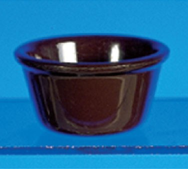 Chocolate Melamine 4 Oz. Smooth Ramekin - 3-3/8