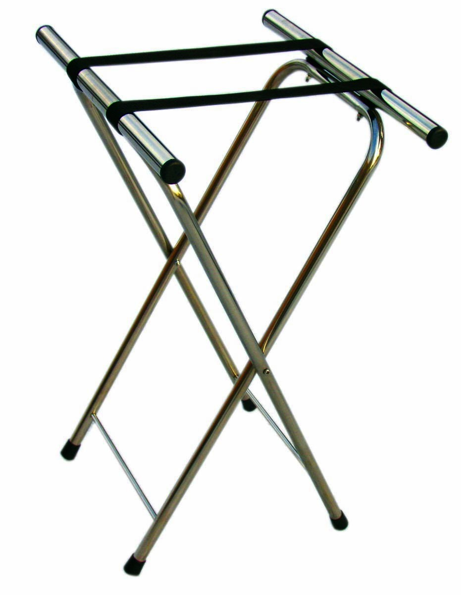 Chrome Folding Tray Stand