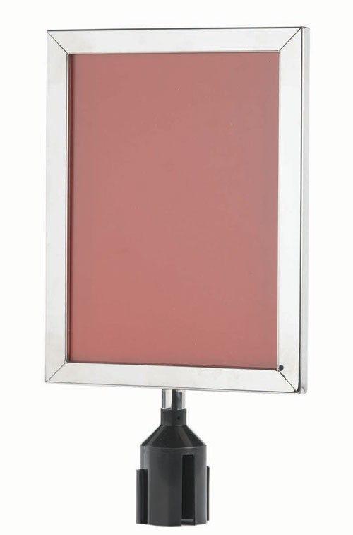 Chrome Form-A-Line Vertical Sign Frame 14-1/8 x 11-1/8