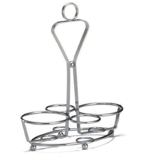 Chrome-Plated Condiment Rack - With 1-5/8