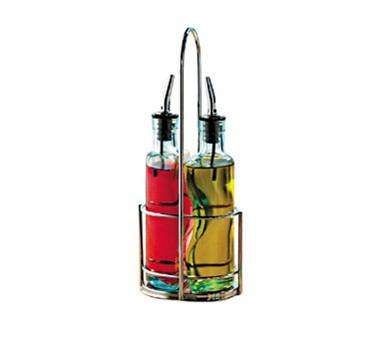 TableCraft 918R Chrome-Plated Gemelli Olive Oil Bottle Rack