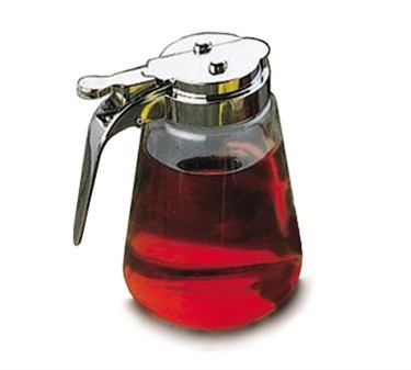 Tablecraft 1370cp Modern Glass 8 Oz Syrup Dispenser With Chrome Plated Abs Top Lionsdeal