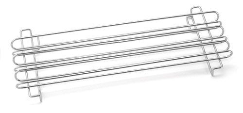"TableCraft 4040 Chrome-Plated Taco Rail for Twelve 6"" Taco Shells"