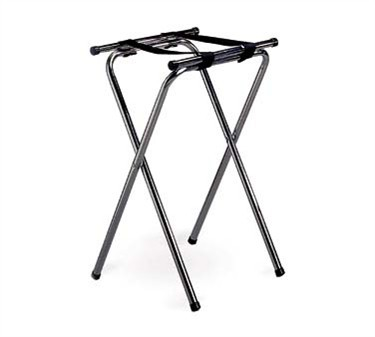 "TableCraft 24 Chrome Plated Metal Tray Stand 31""H"