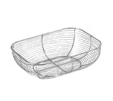 Chrome-Plated Rectangular Wire Display Basket - 13