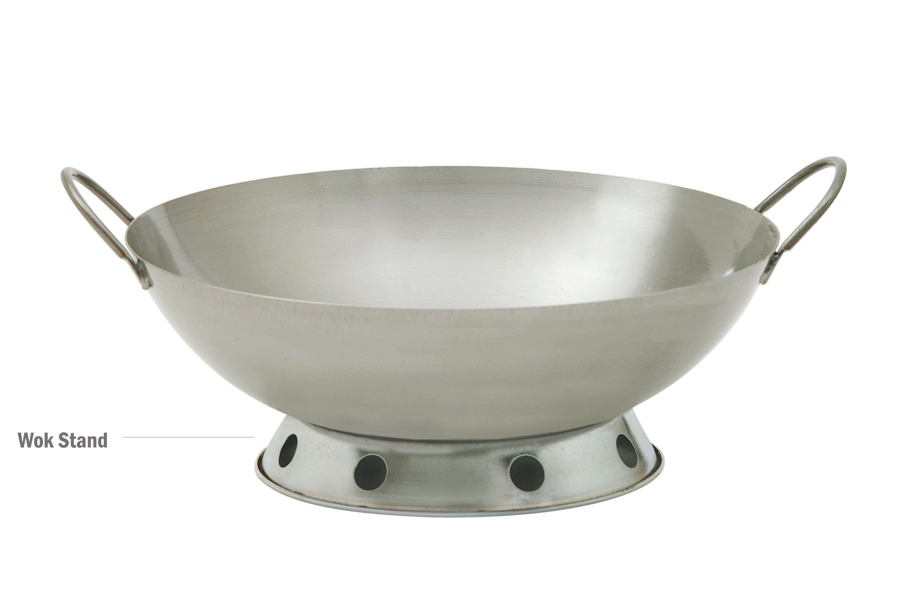 Chrome-Plated Steel Deluxe Wok Stand - 8-1/2
