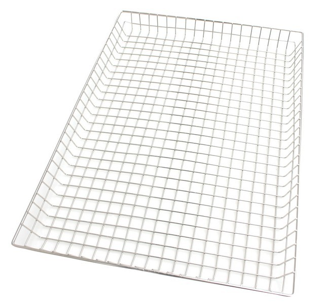 Chrome-Plated Steel Wire Donut Basket - 10