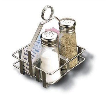 "TableCraft 609R Chrome-Plated Rack for 2-1/8"" Salt & Pepper Shakers"