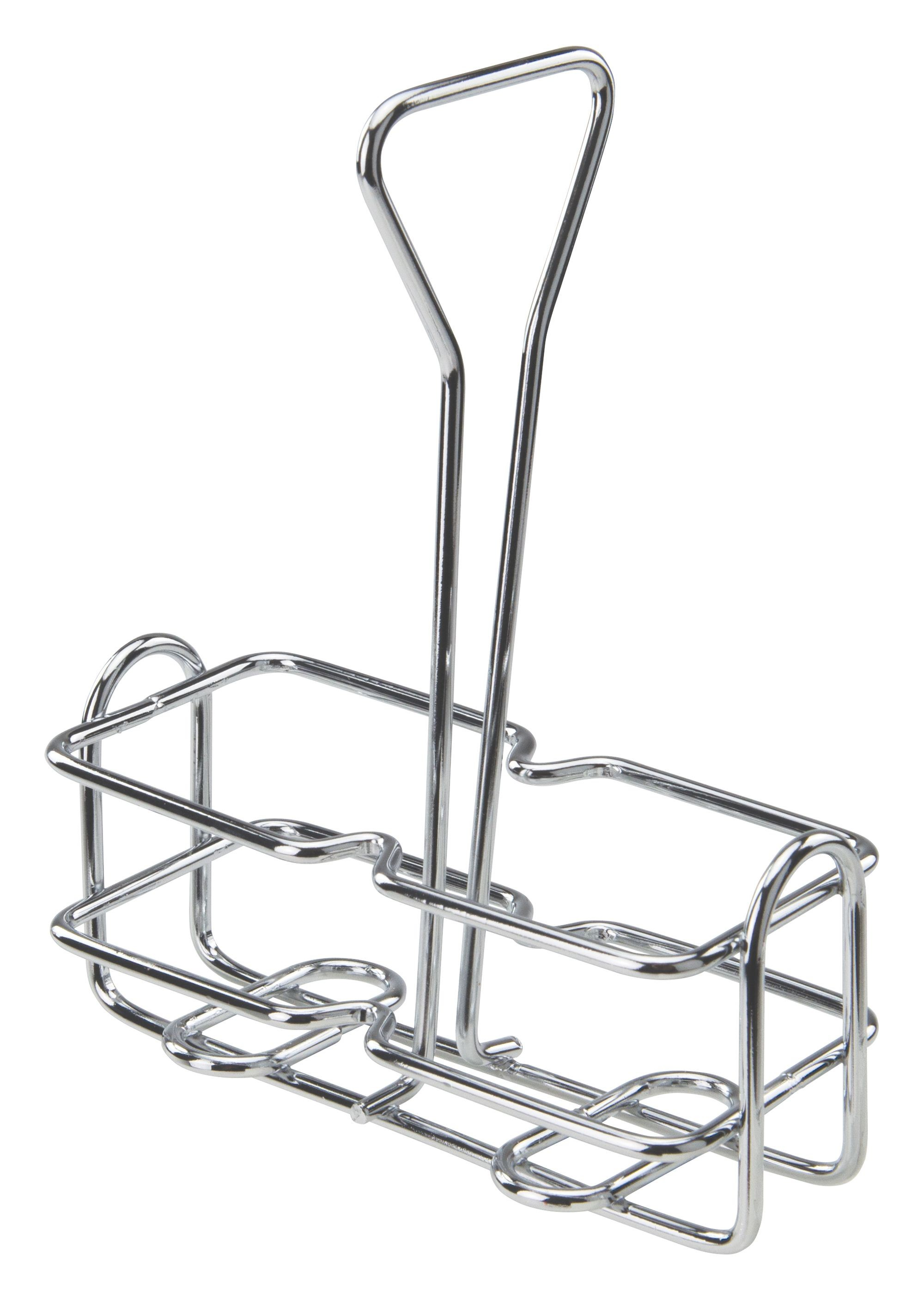 Chrome-Plated Wire 6 Oz. Oil & Vinegar Holder Rack