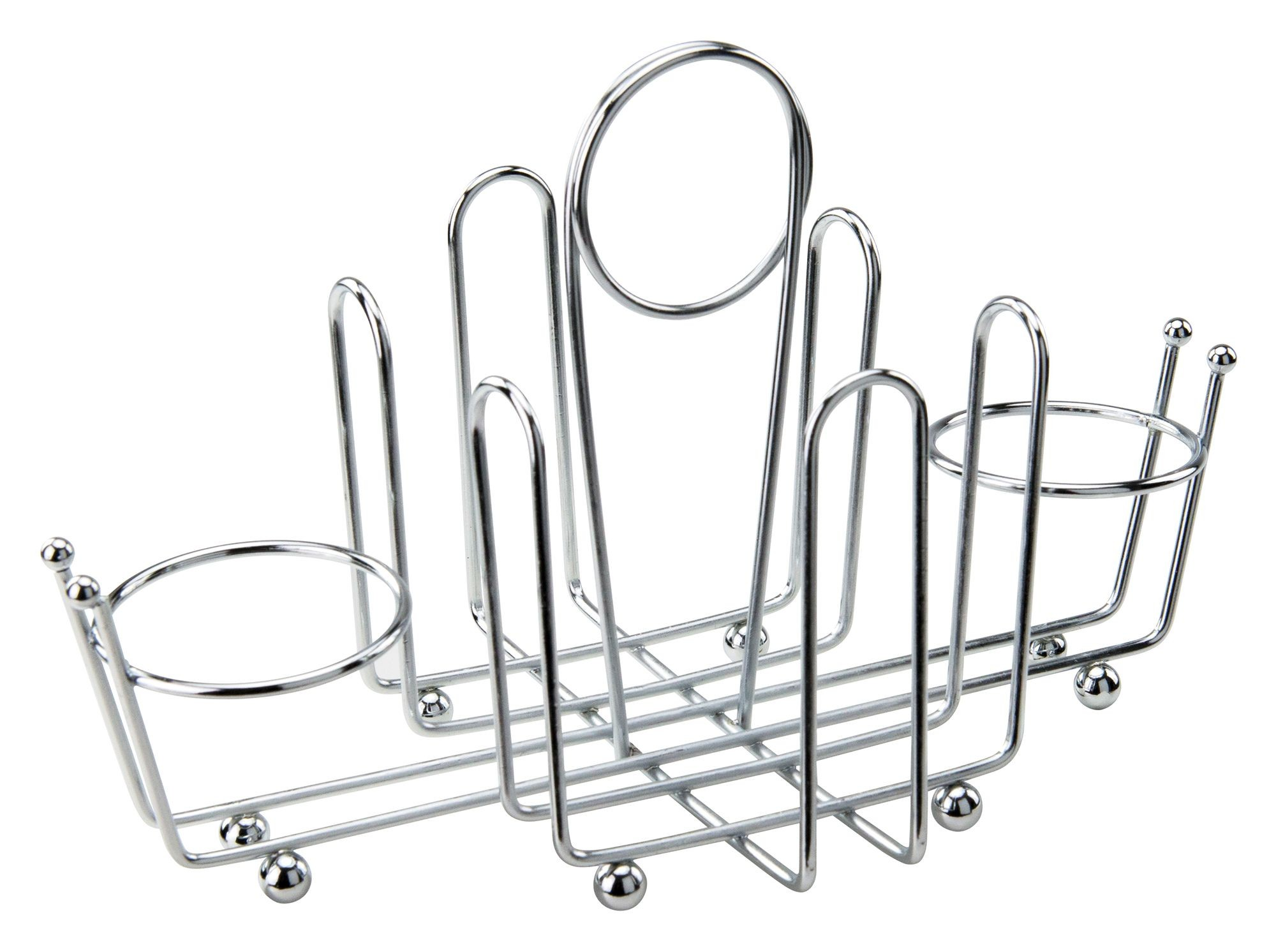 Winco WH-1 Condiment Holder with Chrome Plated Wire & Ball Feet