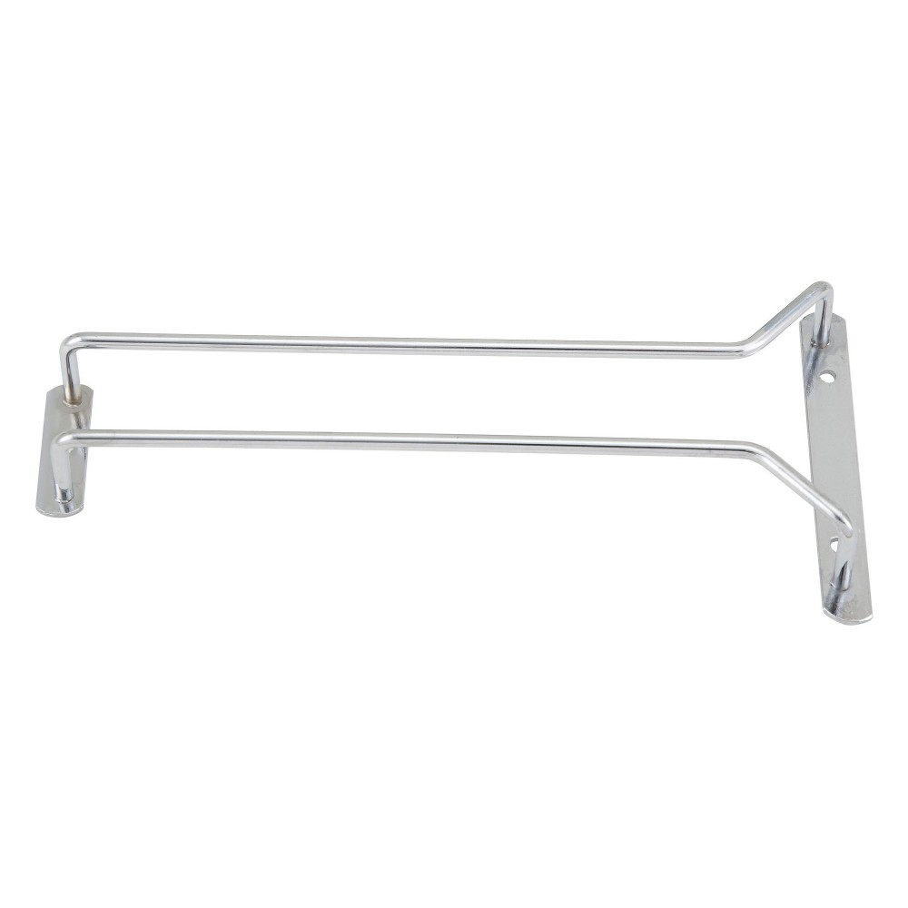 Chrome Plated Wire Glass Hanger Rack - 10