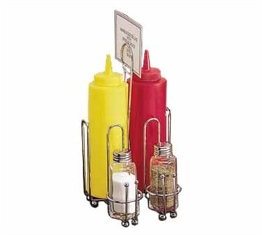 "TableCraft 594C Chrome Combo Rack, Fits 1-11/16"" Salt/Pepper Shakers"