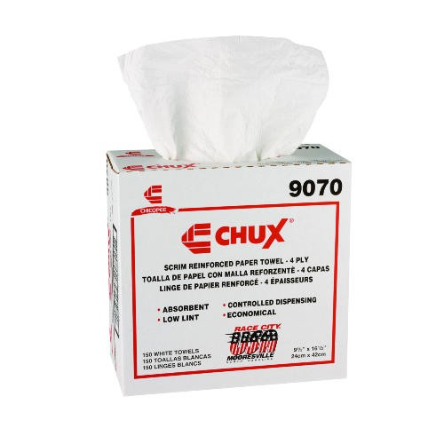 Chux Wiper Light-Duty Towels, White, 9.5 X 16.5
