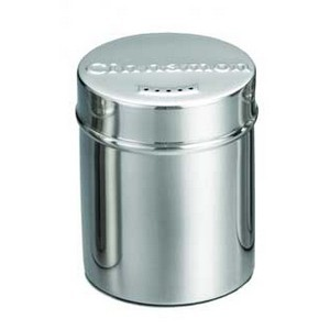 TableCraft 754 Stainless Steel Seattle Cinnamon Shaker, 6 oz.