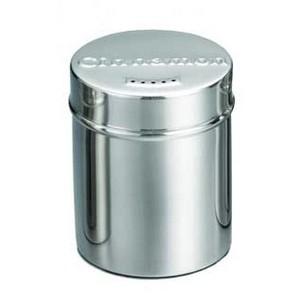 TableCraft 754 Stainless Steel Seattle Cinnamon Shaker, 6 oz.