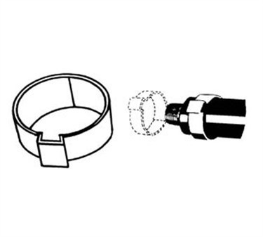 Franklin Machine Products  142-1122 Clamp, Tab (7/16Tube, Ss ) (100 )