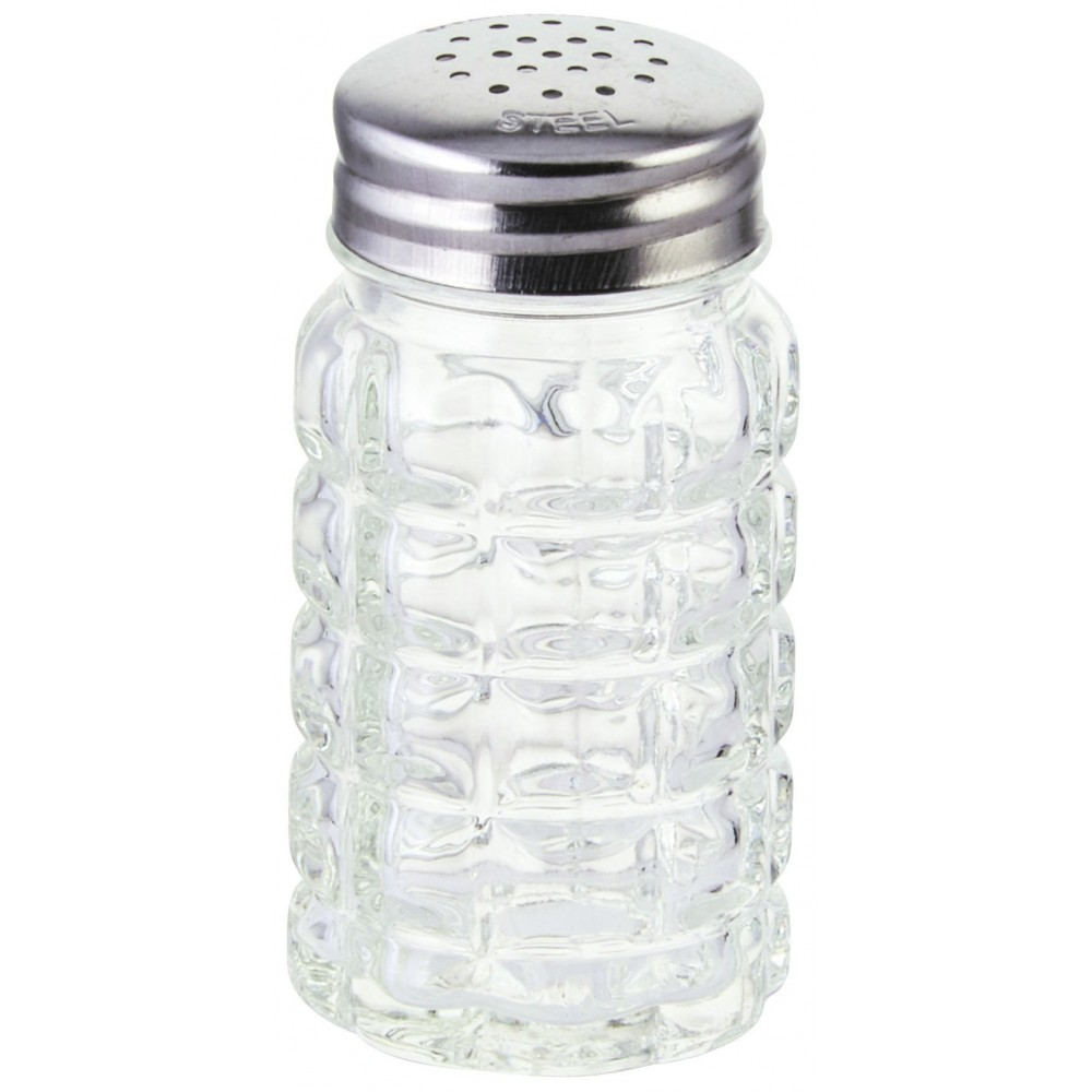 Winco G-118 Classic 2 oz. Glass Salt Shaker with Flat Top